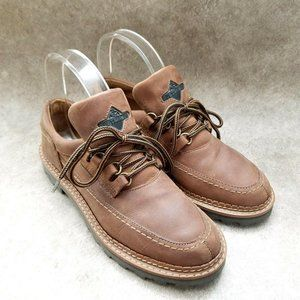 Wild Pair Womens   Sz 7.5 B Brown  Leather Lace Up